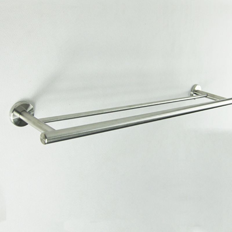 2pcs/lot  DHL Free Shipping (24,60cm) Bathroom Lavatory Double Towel Bar Holder Brushed Stainless Steel
