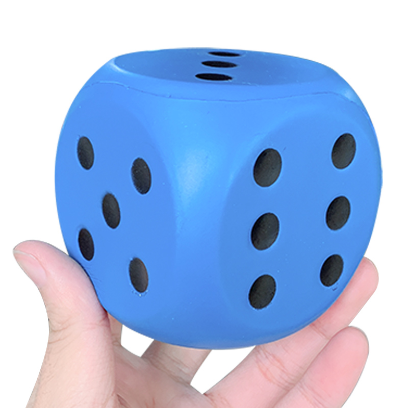 Jumbo Dice Squeeze Toys Soft Squishy Slow Rising Education Simulation Cream Scented Stress Relief Fun Xmas Gift Toy for Children