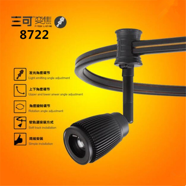 2016new high cri 3w cob 7~18degree commercial led track spot light zoom focusable for art gallery painting