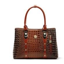 Fashion Women Handbags Crocodile Designer Bags Handbag For Women Famous Brand 2016 Bolsos Feminina Women Leather Handbags Outlet