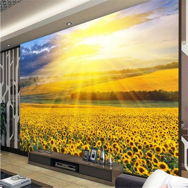 beibehang Large custom wallpaper under the sun in full bloom roses ...