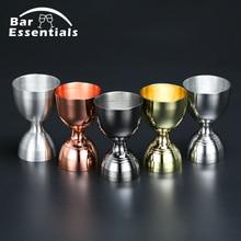 Stainless Steel Cocktail Jigger 30ml/60ml Bar Bell Measuring Liquor Shot Cup Drink Mixer Measurer