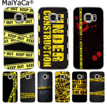 MaiYaCa Yellow bundle crime scene Fashion Luxury phone case for Samsung S9 S9 plus S5 S6 S6edge S6plus S7 S7edge S8 S8plus(China)