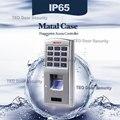 Casa de Segurança de Controle de Acesso Bio Métrico Caso Não Há necessidade de Sistema de Software Biométrico Controle de Acesso de Metal À Prova D' Água Ao Ar Livre Saída WG