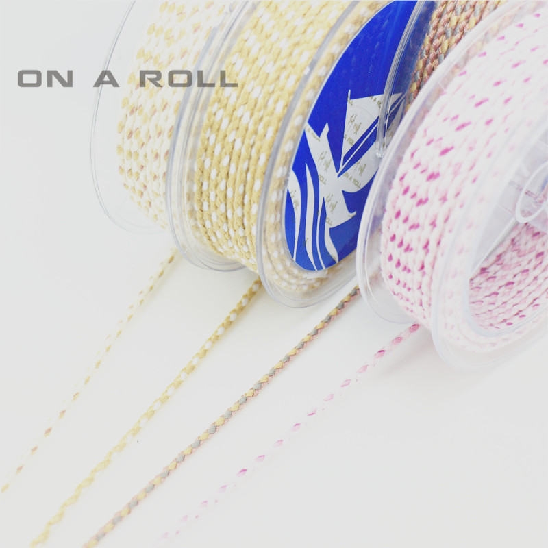 2mm Color cotton woven rope twist jewelry line DIY hand rope lanyard necklace hanging rope 1~13 color 6m/roll