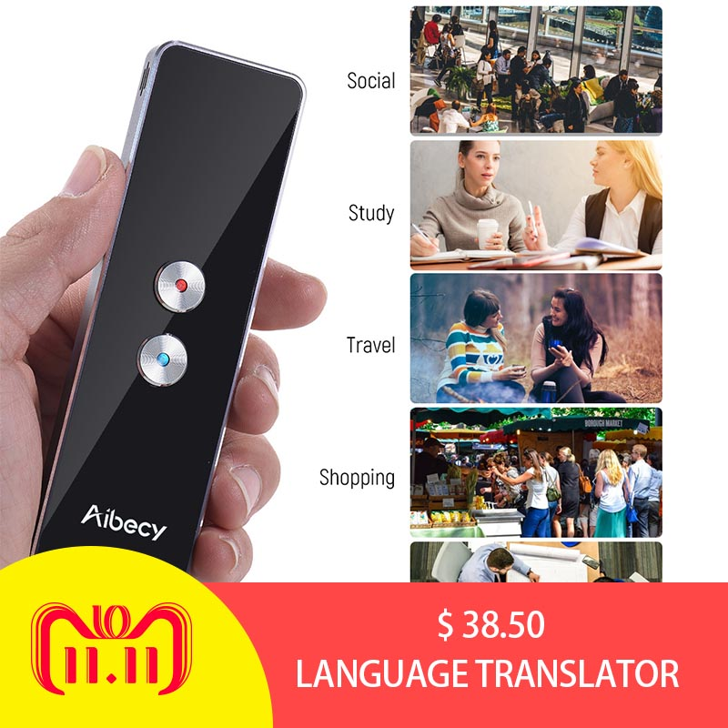 Aibecy Real-time Multi Language Translator Speech/ Text Translation Device with APP for Business Travel English French Spanish все цены