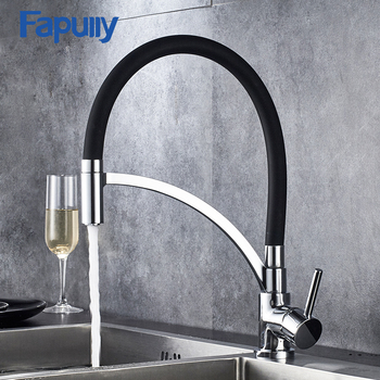 basin faucets black oil brass bathroom sink faucet 360 degree swivel dual handle kitchen washbasin mixer taps knf348 Fapully Black kitchen Taps Mixer 360 Degree Swivel 100% Solid Brass Single Handle Chrome Mixer Sink Faucets 931-33CB