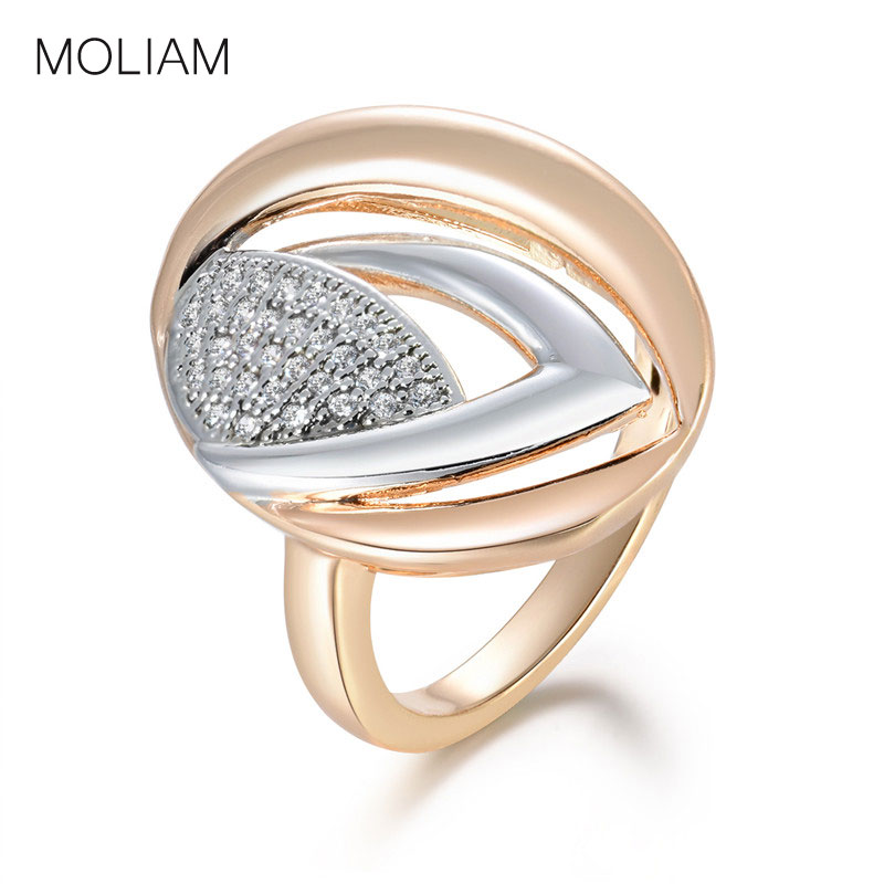MOLIAM Fashion Big Water Drop Rings for Women Female Clear Cubic Zirconia Mid Finger Ring Party Jewelry Best Gifts MLR633 thumbnail