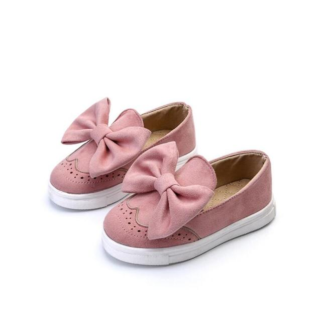b61a400f1b Kids Girls Spring Shoes With Bow Fashion Sneaker Children Baby Girl Casual  Sport Shoes princess Cute Shoes in stock
