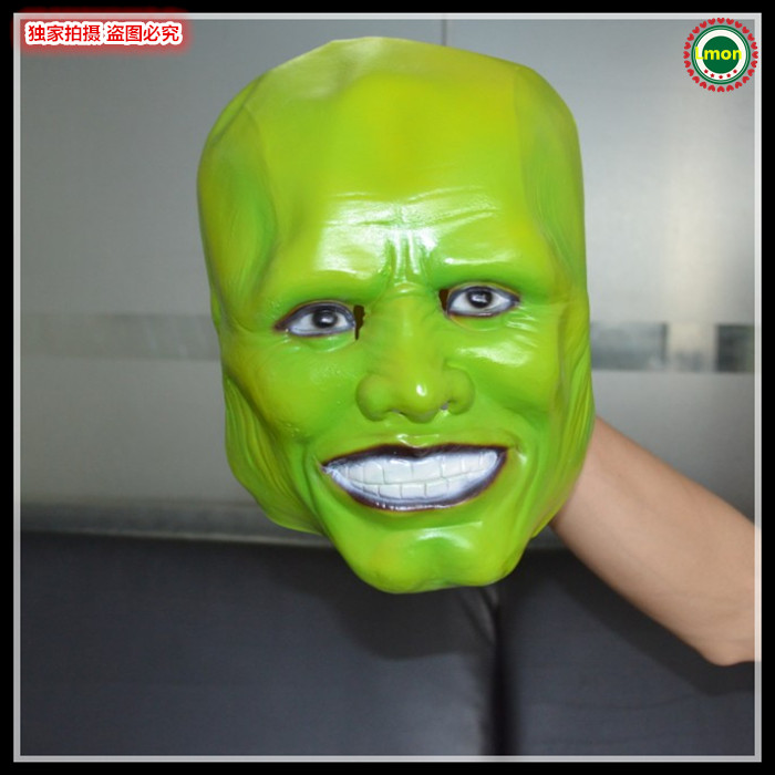 Free shipping New Halloween Party Cosplay Stag THE MASK Jim Carrey LATEX MASK Halloween Costume Prop Jim Carrey movie film toys image