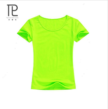 hot deal buy fashion solid cotton short sleeved women's t-shirt blank combed female t shirt lycra t-shirts slip waist t-shirts 19 colors #v0
