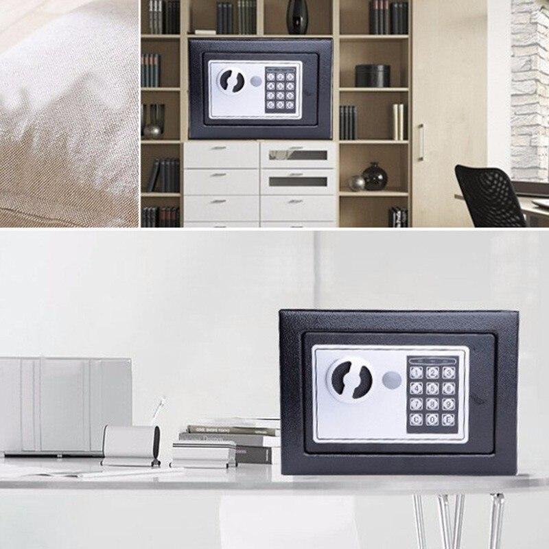 Caja de seguridad Digital pequeña caja de seguridad para el hogar Mini caja de seguridad para banco de dinero caja de seguridad para guardar joyas en efectivo o documentos de forma segura con clave - 5