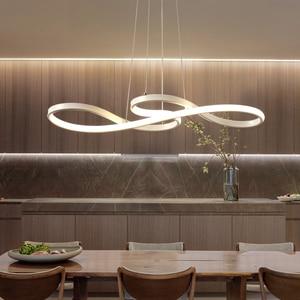 Image 5 - Length 1250/750mm Modern Led Hanging Chandelier For Dining Kitchen Room Bar Suspension luminaire Pendant Chandeliers AC85 265V