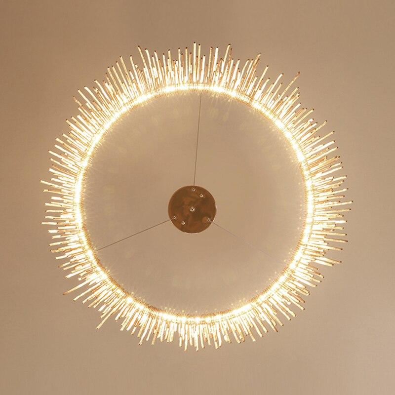IKVVT роскошные подвесные светильники золотистого и серебряного цвета, круглые лампы с кисточками, Алюминиевый металлический корпус для гостиной, отеля, современные домашние лампы