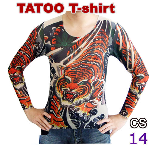 8afe9e334 New Long sleeve fake Tattoo T-shirt mix designs Temporary Tattoo Clothing  for Retail &
