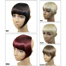 Synthetic Heat Resistant Fiber Hair Bang 5Color Avaliable Hair Bangs 3pc Clips In Bangs Fringe Hair Extension For Fashion Women