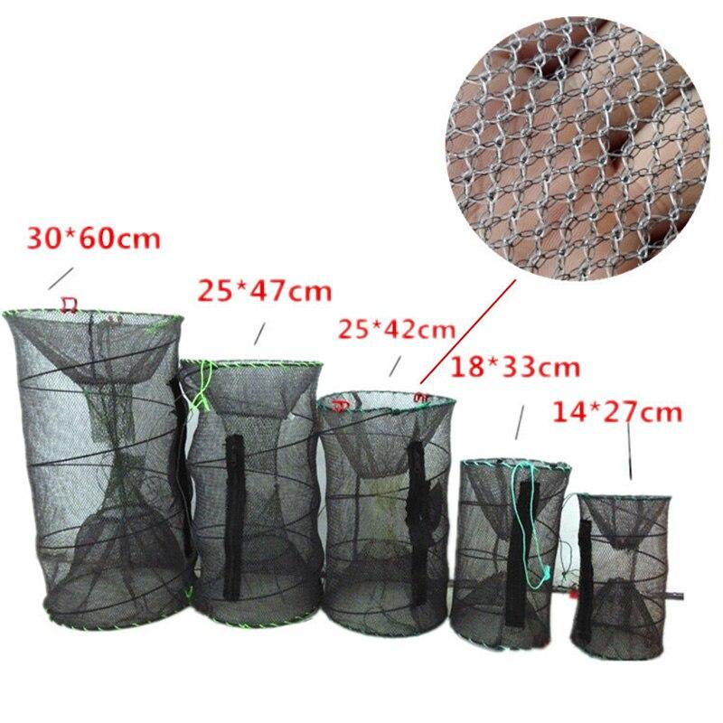 Recién cangrejo trampa neto langosta y camarones jaula plegable portátil accesorios de pesca BN99 Herramientas de pesca    - AliExpress