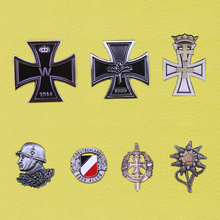 Ww2 немецкая Германия значок вермахт Железный крест булавка знаки отличия немецкие медали военный Эдельвейс Люфтваффе