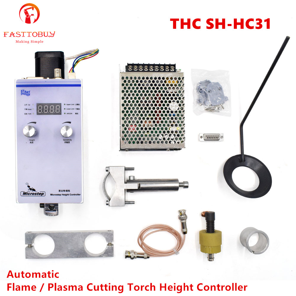Arco automático y voltaje de tapa 220V Controlador de altura de antorcha de plasma de entrada para cortadora de plasma CNC THC SH-HC31