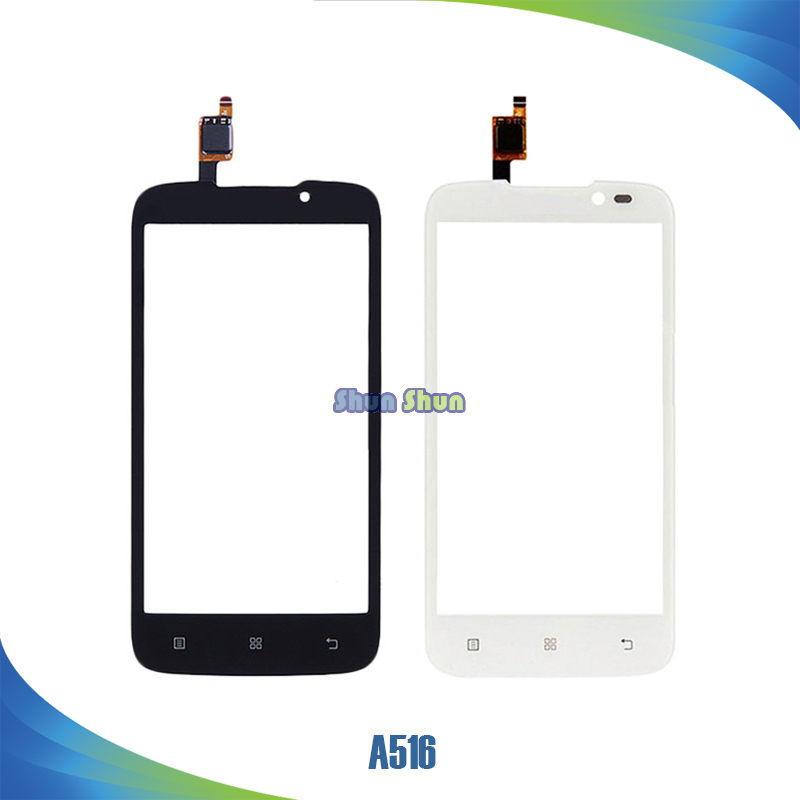 4.3 A516 Touch Screen for Lenovo A516 516 Touch Screen Digitizer Sensor Front Glass Lens Panel Black White Mobile Phone Parts
