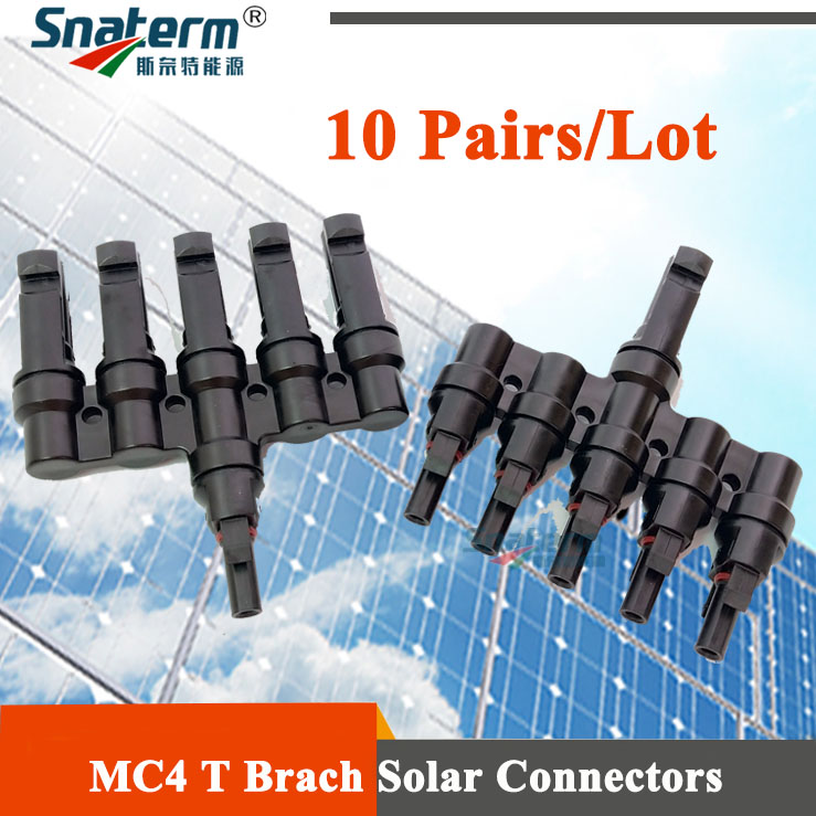 10 Pairs x MC4 5T Connector male and female MC4 5 Branch Solar Panel Connector used