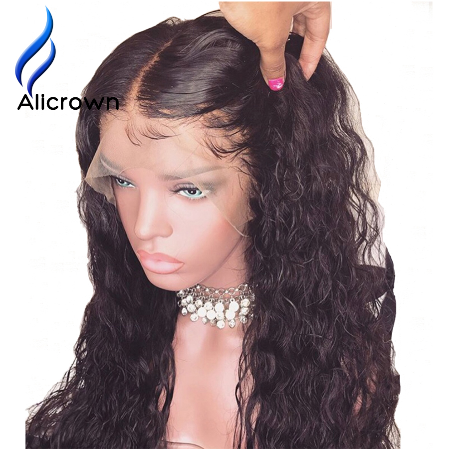 ALICROWN Curly 13 6 Brazilian Lace Front Human Hair Wigs With Baby Hair Remy Hair Lace