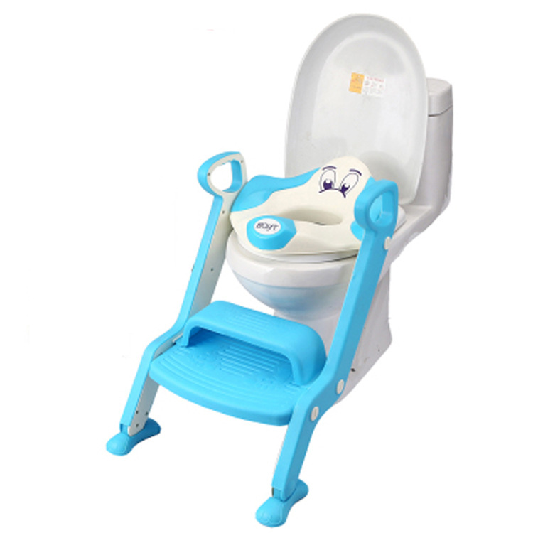 Baby Potty Seat Ladder Children Toilet Seat Cover Kids Toilet Folding infant potty chair Training Portable portable folding mobile toilet chairs bath chair potty chair elderly seat commode chair