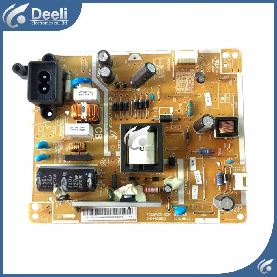 95% new original for Power Supply Board UA32EH4000R UA32EH4080R BN44-00492D used board good working good working original used for power supply board ua46d6600wj pd46b2 bdy bn44 00427b 95