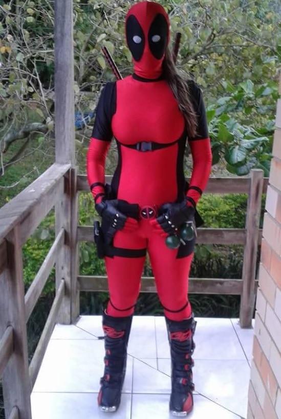 Lady Deadpool Cosplay Costume Adult Men Women Accessories