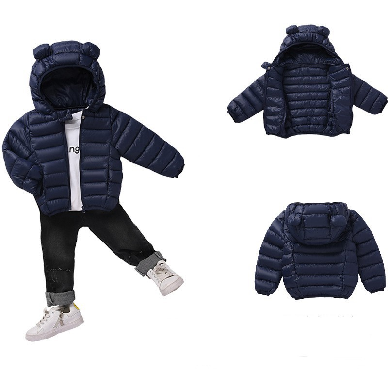 COOTELILI Cute Bear Children's Parkas Winter Jacket For Girls Boys Infant Overcoat Winter Children Coats Warm Kids Jacket Baby  (3)