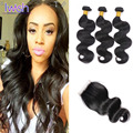 3 Bundles With Closure Iwish Brazilian Body Wave Virgin Brazilian Hair With Closure Unprocessed Human Hair Weft With Closure