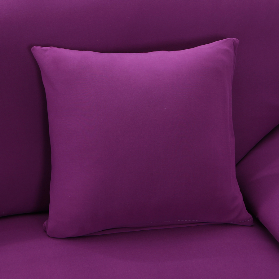 Aliexpress : Buy Couch/ Arm Chair/ Loveseat /Chaise Living Room Two  Seater Sofa/ L Corner Sofa Cover Solid Color Purple Slipcover From Reliable  Corner