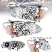 2pcs Waterproof Durable Black Replacement Car Headlights 03 08 Left Right Auto Headlamps For 2003 2008
