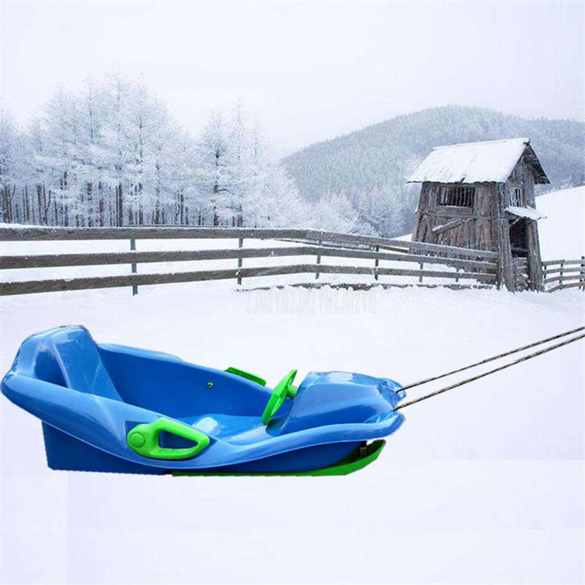 Adult Children Outdoor Sport Steering Wheel Plastic Skiing Board Sled Sand Grass Ski Pad For Ice Or Snow Skiing Snowboard 0066