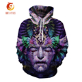 2017 New Men/Women Hoodie 3D Printed Skull&Animal Pattern Sweatshirts Long Sleeve Casual Pullover Tops Lovers Baseball Clothing