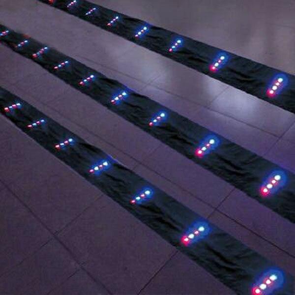 Livraison gratuite haute qualité led cerf-volant tails10m led queues 60 p lampe avec le chargeur peut accrocher dans cerf-volant weifang cerf-volant usine en gros