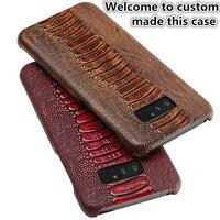 JC12 Ostrich Foot Pattern Genuine Leather Back Case For Microsoft Lumia 950 XL(5.7') Phone Case For Microsoft Lumia 950 XL Case