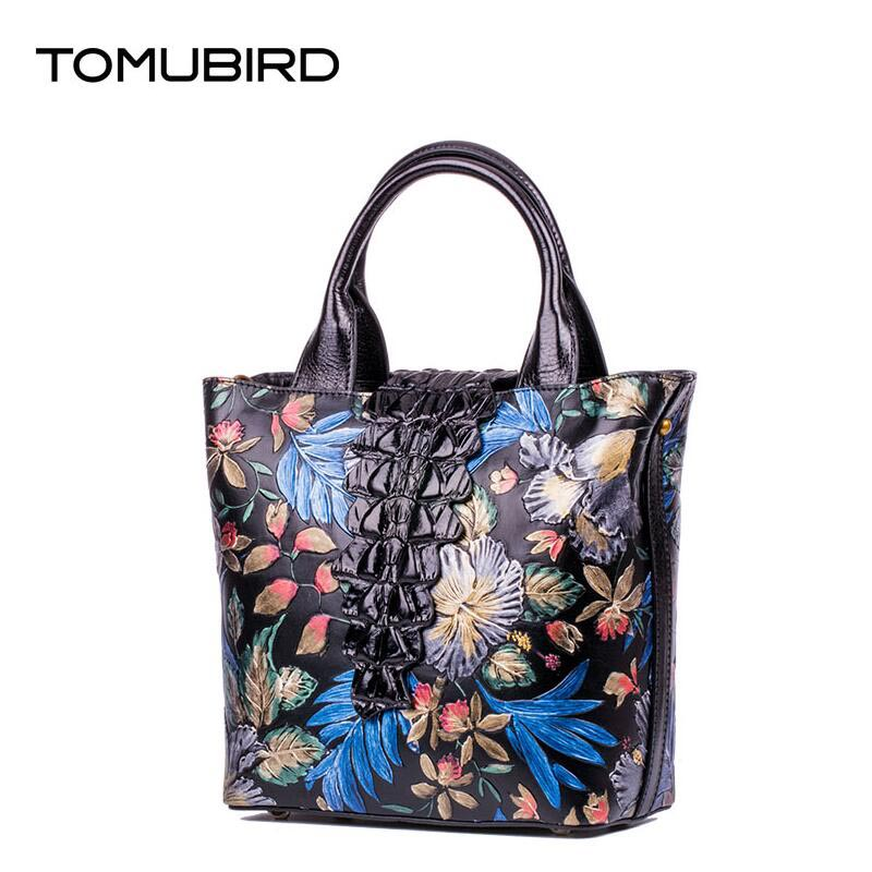 TOMUBIRD 2017 new superior leather painted printing designer famous brand women bag luxury genuine leather handbags shoulder bag tomubird 2017 new superior leather retro embossed designer famous brand women bag genuine leather tote handbags shoulder bag