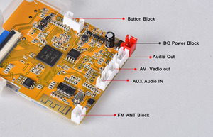Image 4 - Audio Video Decoder 4.3 LCD Screen DTS Lossless Bluetooth Module mp4/mp5 HD Video APE/WAV/MP3 Decoding Board FM Module
