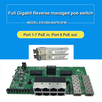 8 Port Gigabit Reverse Poe managed ethernet Switch with 2 SFP slots with VLAN