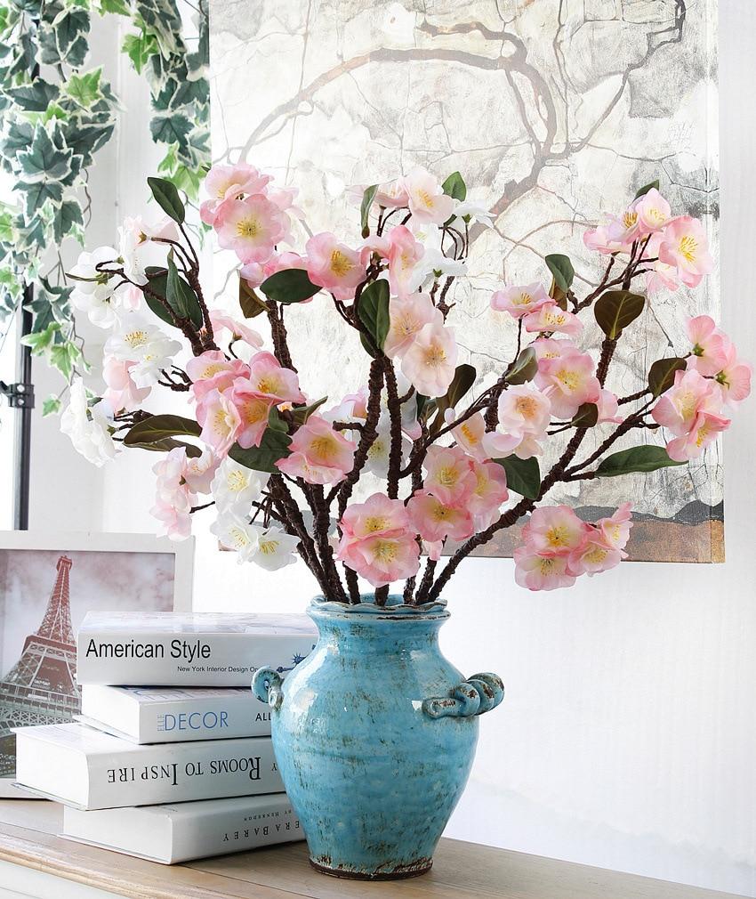 2018 Rushed Verkauf Dekorative Pu Kirschblüte Künstliche Flores - Partyartikel und Dekoration