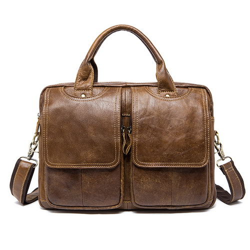 New Men's Briefcase Bag Men Cow Genuine Leather Bags Male Man 14 Inch Business Laptop Bag For Male Briefcases Leather Bags