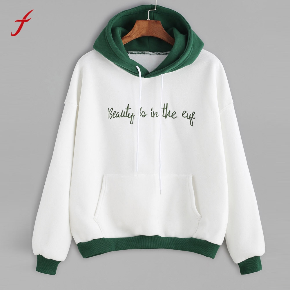 Women Embroidery Long Sleeve Blusa Casual font b Hoodies b font For Women Fashion Letter Print
