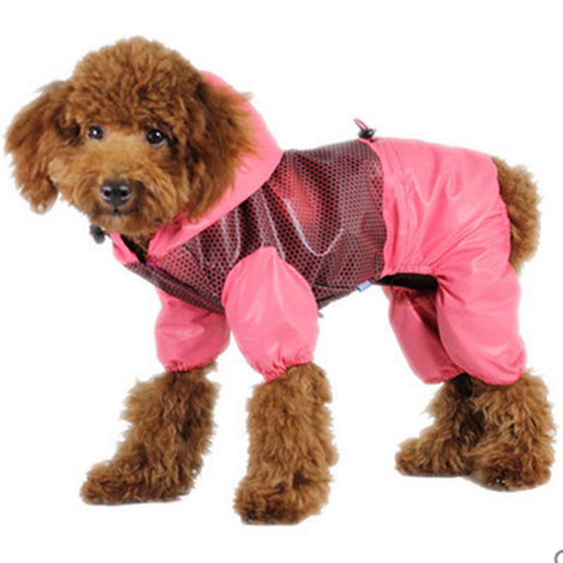 Raincoat Dog Rain Life Jacket Parka Impermeable Mesh Clothing Transparent Dog Hoodies Waterproof Overalls Jacket Poncho BBMXZX8