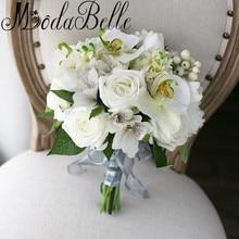 Modabelle White Artificial Phalaenopsis Wedding Bouquet