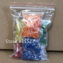 600pcs/lot F5 5MM in the Sets Kit Mixed 6 Color : White / Orange / Green / Red / Blue / Yellow LED light emitting diode turn DIP(China)