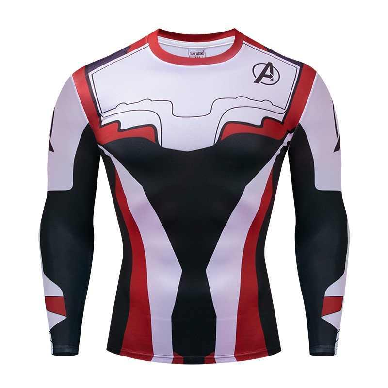Мстители 4 эндшпиль Quantum войны 3D футболки с принтом обтягивающая мужская кофта Косплэй костюм топы с длинными рукавами для мальчиков Фитнес ткань