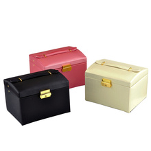 Brand New Fashion Elegant Women Leather Sector Gift Jewelry Box Display Storage Organizer Container Carrying Case Casket Boxes