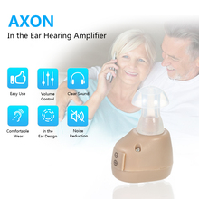 AXON Portable Mini Ear Hearing Aid Audiphones Small In The Ear Invisible Best Sound Amplifier 3\4 Size Earplugs Adjustable Tone