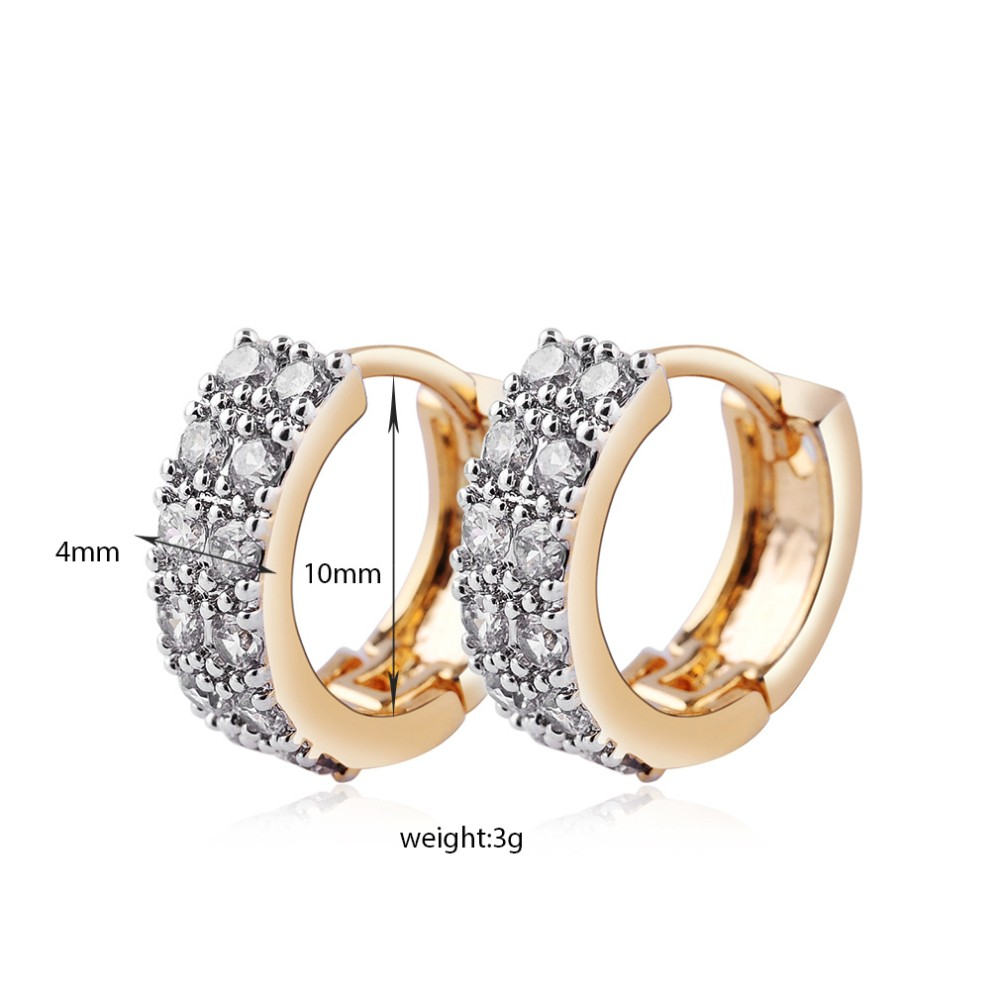 MD Jewellery Studded Earrings in 14K Gold Fn Simulated Diamond Daily Wear For Girls Womens
